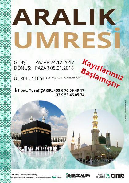 Aralik 2017 Umre